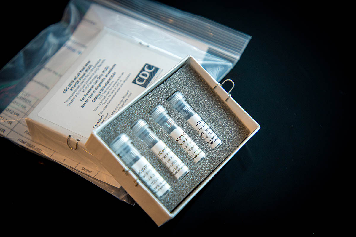 This is a picture of CDC's laboratory test kit for severe acute respiratory syndrome coronavirus 2 (SARS-CoV-2).